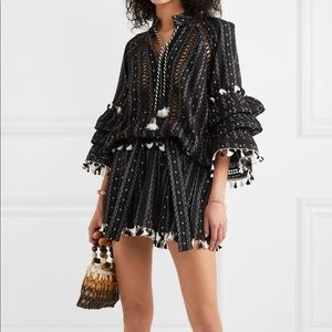 Dodo Bar Or tasseled cotton jacquard mini skirt